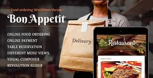 Food ordering WordPress theme for Restaurant – Bon Appetit