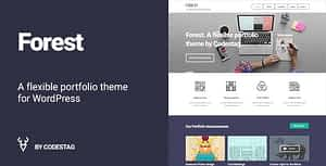 Forest – A flat and Bold Portfolio WordPress Theme