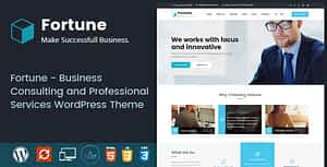 Fortune – Business Consulting and Professional Services WordPress Theme