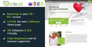 Fund For Aid – Charity Nonprofit One Page HTML5 Template