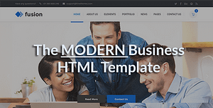 Fusion – A Modern Business HTML Template