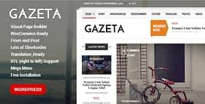 Gazeta – Responsive Magazine WordPress Theme