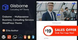 Gisborne – Business, Finance and Consulting WordPress Theme