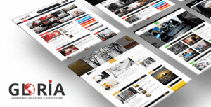 Gloria – Responsive eCommerce News Magazine Newspaper WordPress Theme