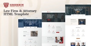 Grerbin – HTML5 Template For Law Firm with RTL Support