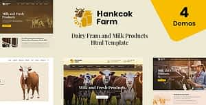 Hankcok – Dairy Farm and Milk Products HTML Template