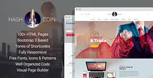 HashCoin Plus – Bitcoin Crypto Currency HTML Template