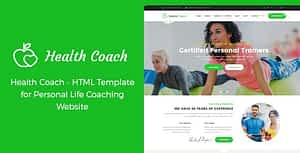 Health Coach – HTML Template for Personal Life Coaching Website