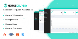Home Delivery Mobile Application With Web Portal PHP Script