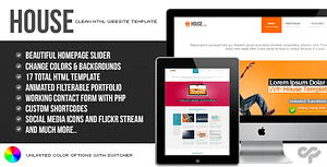 House – Clean HTML Website Template