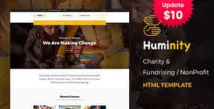Huminity – Responsive HTML Template for Charity & Fund Raising