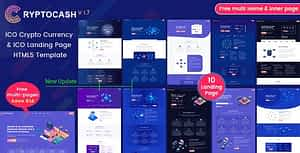 ICO Cryptocash – ICO Crypto Currency & ICO Landing Page HTML5 Template