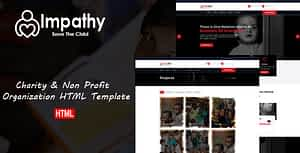 Impathy – Nonprofit, Donation, Charity HTML5 Template