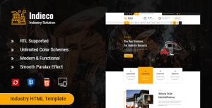 Indieco – Factory & Industry HTML Template