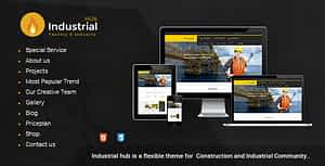 Industrial Hub – Factory / Construction Html Template