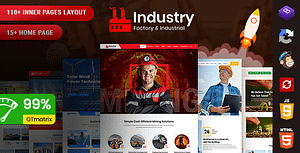 Industry – Factory & Industrial Template + RTL Ready