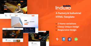 Induxo – A Factory and Industrial HTML5 Template