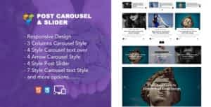 Jellywp post carousel slider Visual Composer Addons