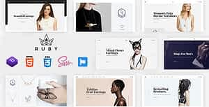 Jewelry Store eCommerce HTML Template – Ruby