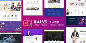 Kalvi – LMS Education Courses WordPress Theme