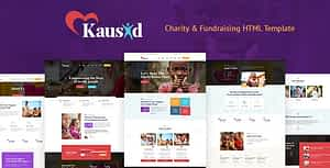 Kausid – Responsive HTML Template for Charity & Fund Raising