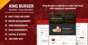 King Burger – Restaurant Food Ordering website with Ingredients In Laravel