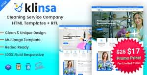Klinsa – Cleaning Services Company HTML Template