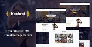 Koshrot – Gym Fitness HTML Template with Page Builder