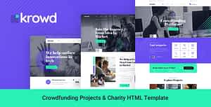 Krowd – Crowdfunding Projects & Charity HTML Template