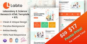 Labto – Laboratory & Science Research HTML Template