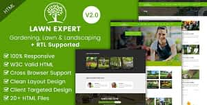 Lawn Expert – Gardening and Landscaping HTML Template