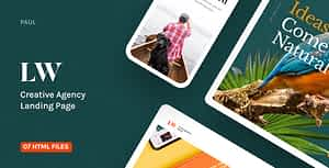 Lewis – Creative Agency Landing Page
