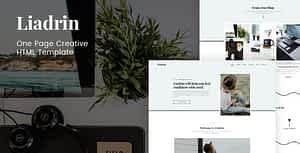Liadrin – One Page Creative HTML Template