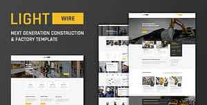Lightwire – Construction And Industry Template