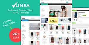 Linea – Clothing Store Responsive HTML Template