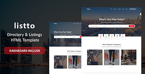 Listto – Directory Listing HTML Template