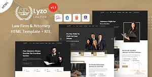 Lyzo – Law Firm & Attorney HTML Template