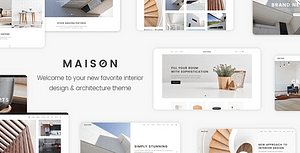 Maison – Modern Theme for Interior Designers and Architects