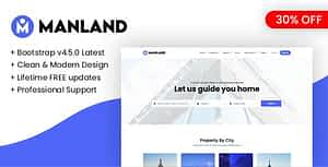 Manland – Bootstrap Light Real Estate HTML Template