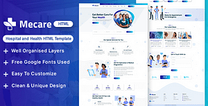 Mecare – Hospital and Health HTML Template