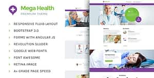 MegaHealth – Health and Medical Centers HTML5 Template