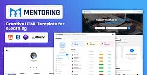 Mentoring – eLearning & Mentor Booking HTML Template