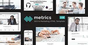 Metrics Business – SEO, Digital Marketing, Social Media HTML Template