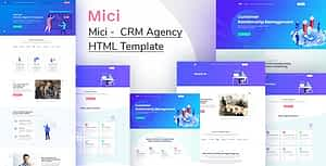 Mici – CRM system HTML Template