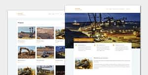 Miner – Modern Industrial WordPress Theme