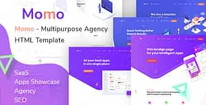 Momo  – Multipurpose Agency HTML Template