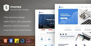 Monee – Forex and Stock Broker HTML Template