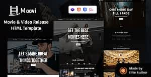 Moovi – Video Production & Release HTML Template