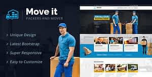 MoveIt – Movers, Relocation, Transportation Company WordPress Theme
