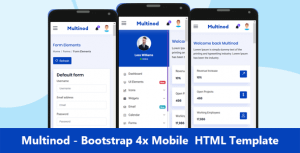 Multinod | Bootstrap 4x Mobile HTML template